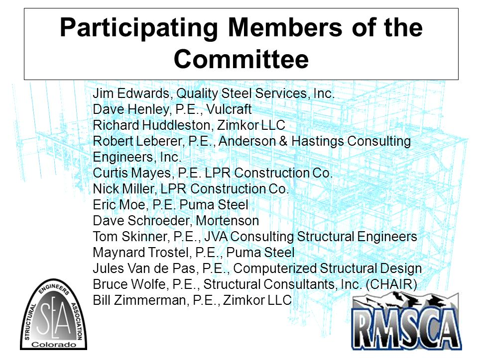 Participating Members of the Committee