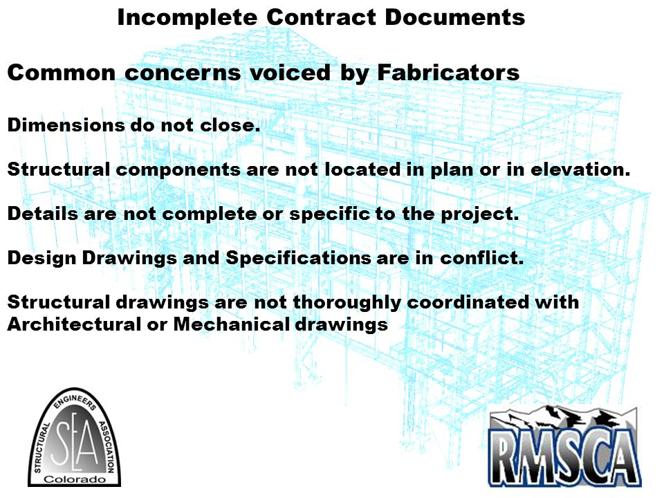 Incomplete Contract Documents