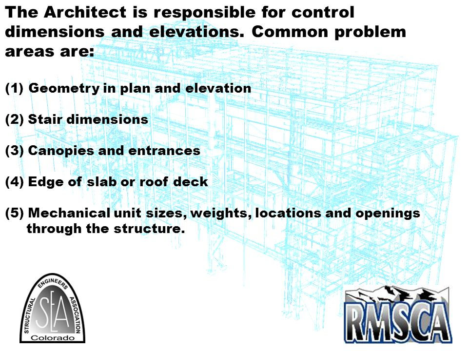 The Architect is responsible for control