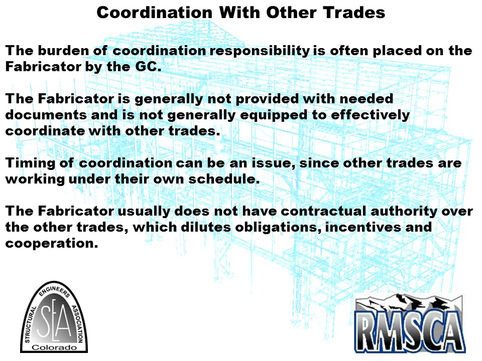 Coordination With Other Trades