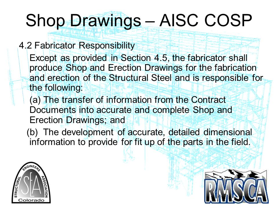 Shop Drawings – AISC COSP