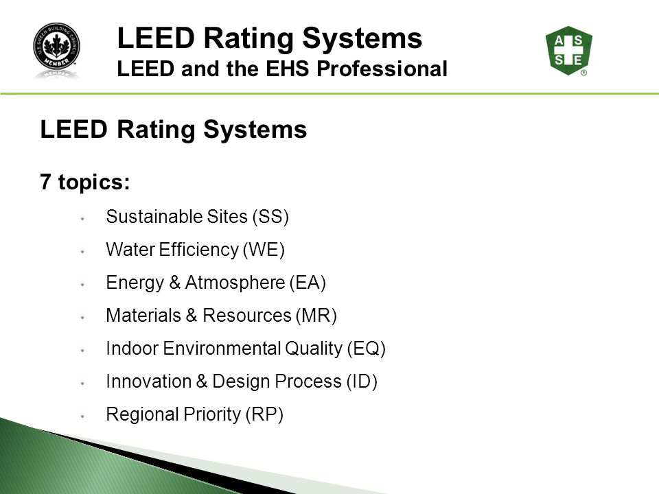 LEED Rating Systems LEED® Awareness LEED Rating Systems