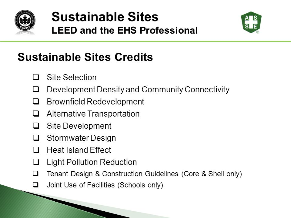 Sustainable Sites Sustainable Sites Credits