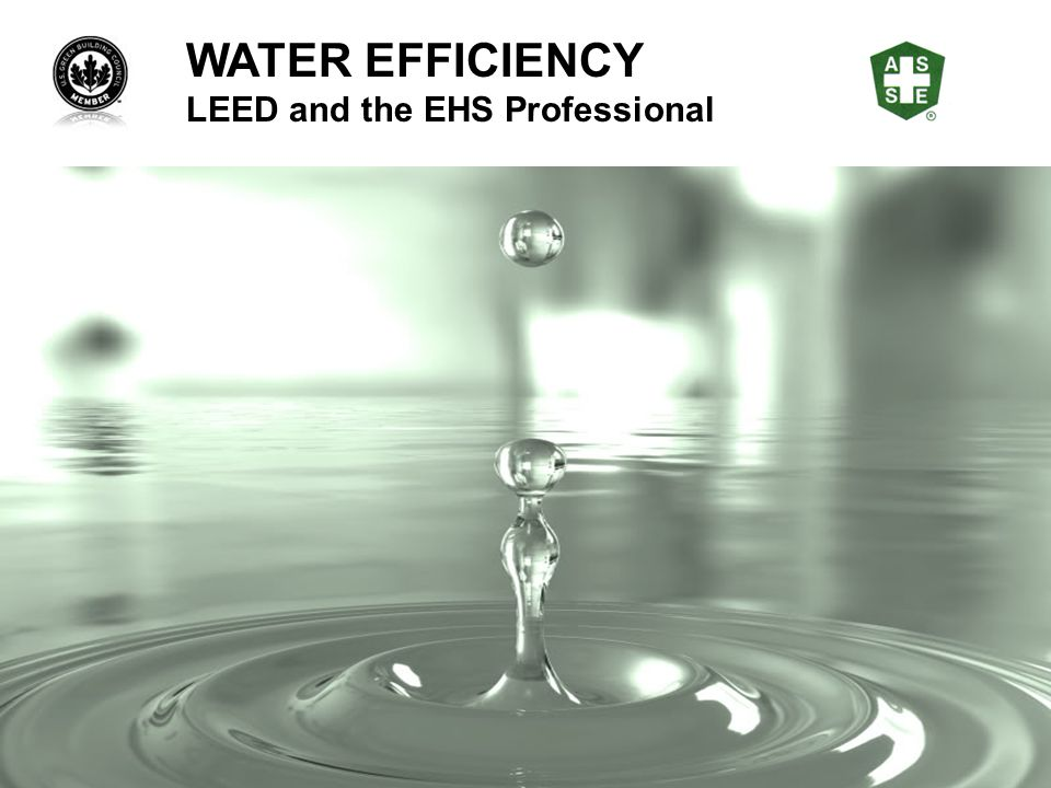 WATER EFFICIENCY LEED and the EHS Professional