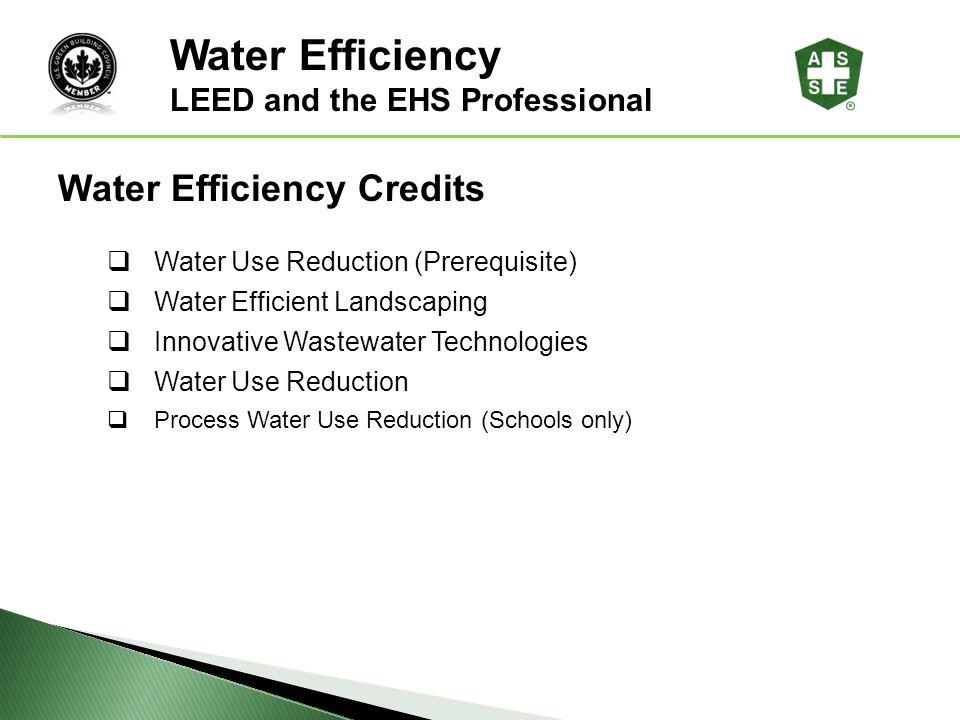 Water Efficiency LEED® Awareness Water Efficiency Credits