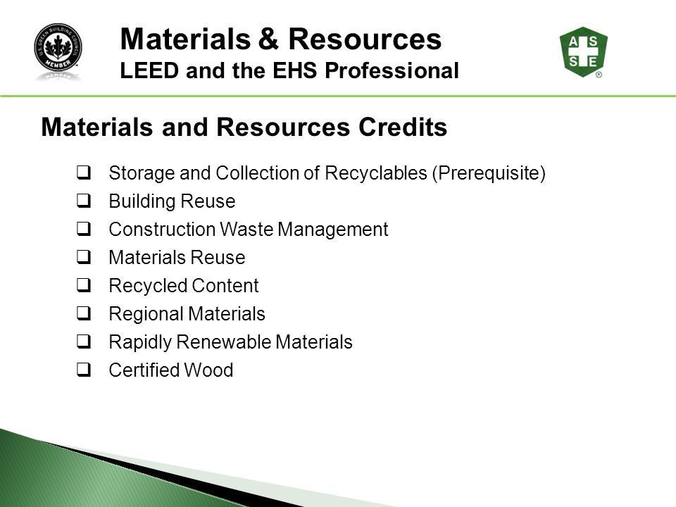 Materials & Resources Materials and Resources Credits