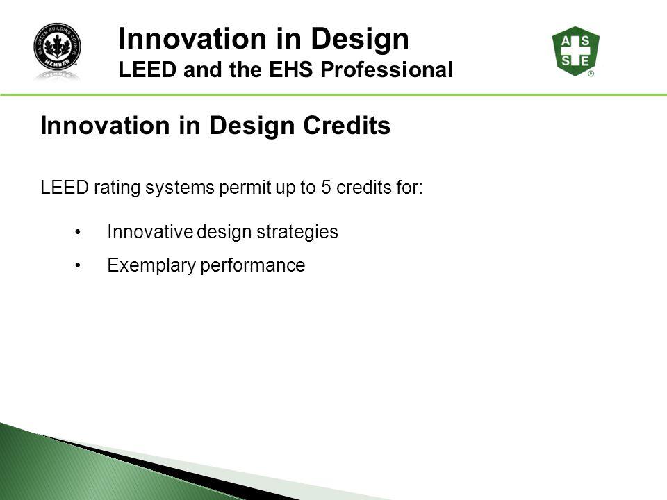 Innovation in Design Innovation in Design Credits