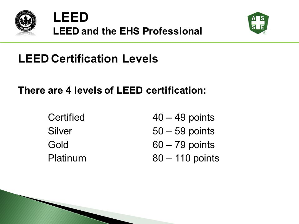Leed and the ehs professional ppt download for Platinum leed certification