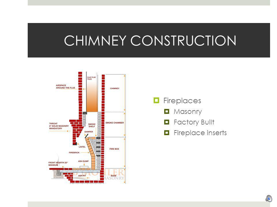 CHIMNEY CONSTRUCTION Fireplaces Masonry Factory Built