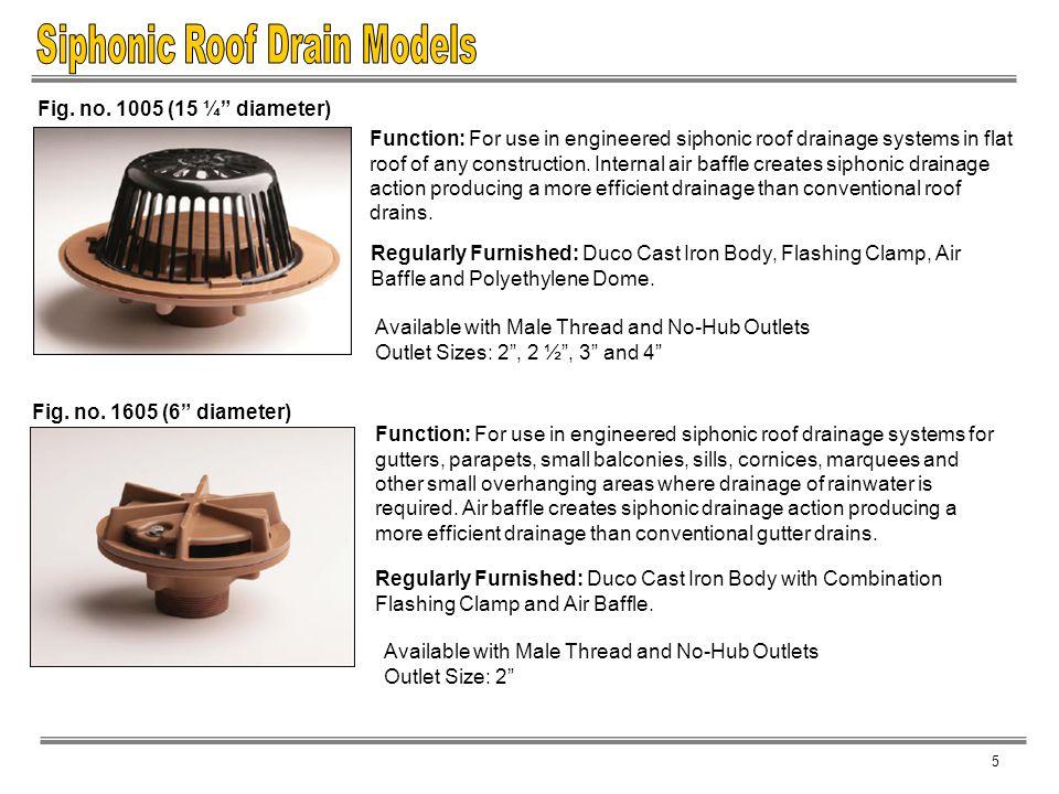 Siphonic Roof Drain Models
