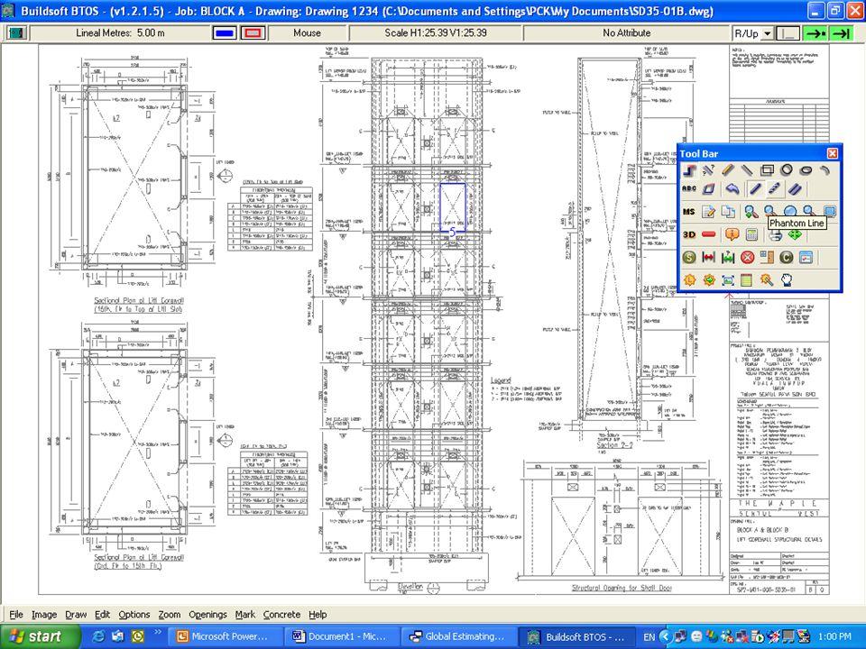 Global Estimating System BUILDSOFT Take Off System