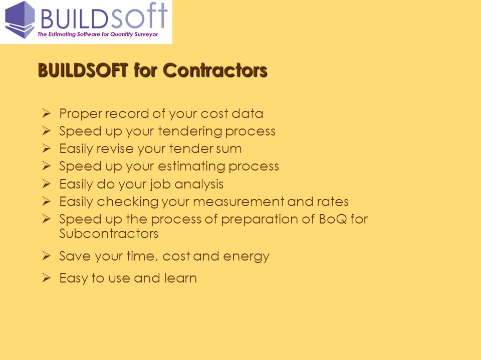 BUILDSOFT for Contractors