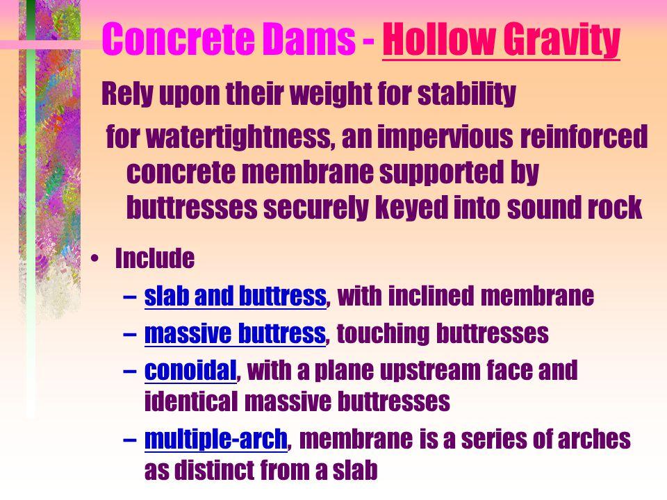 Concrete Dams - Hollow Gravity