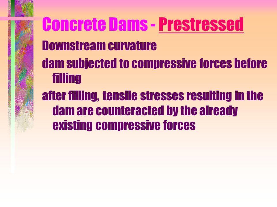 Concrete Dams - Prestressed