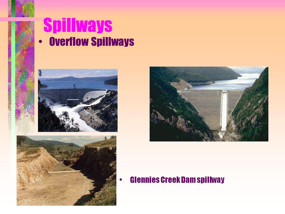 Spillways Overflow Spillways Glennies Creek Dam spillway