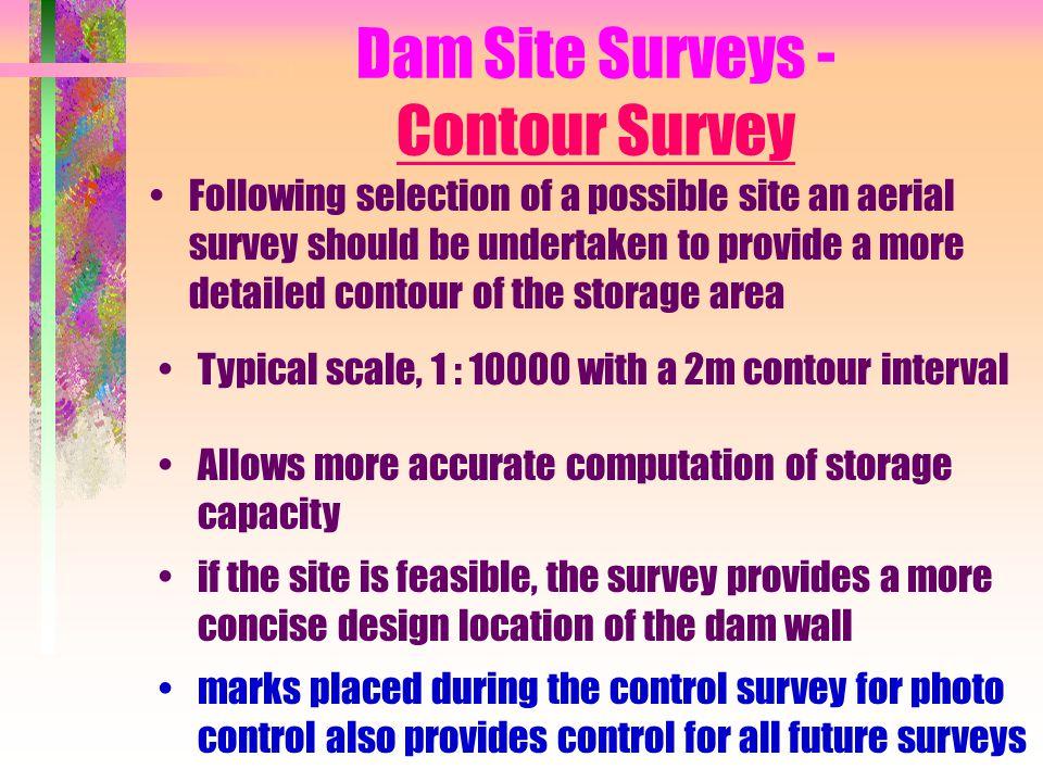 Dam Site Surveys - Contour Survey