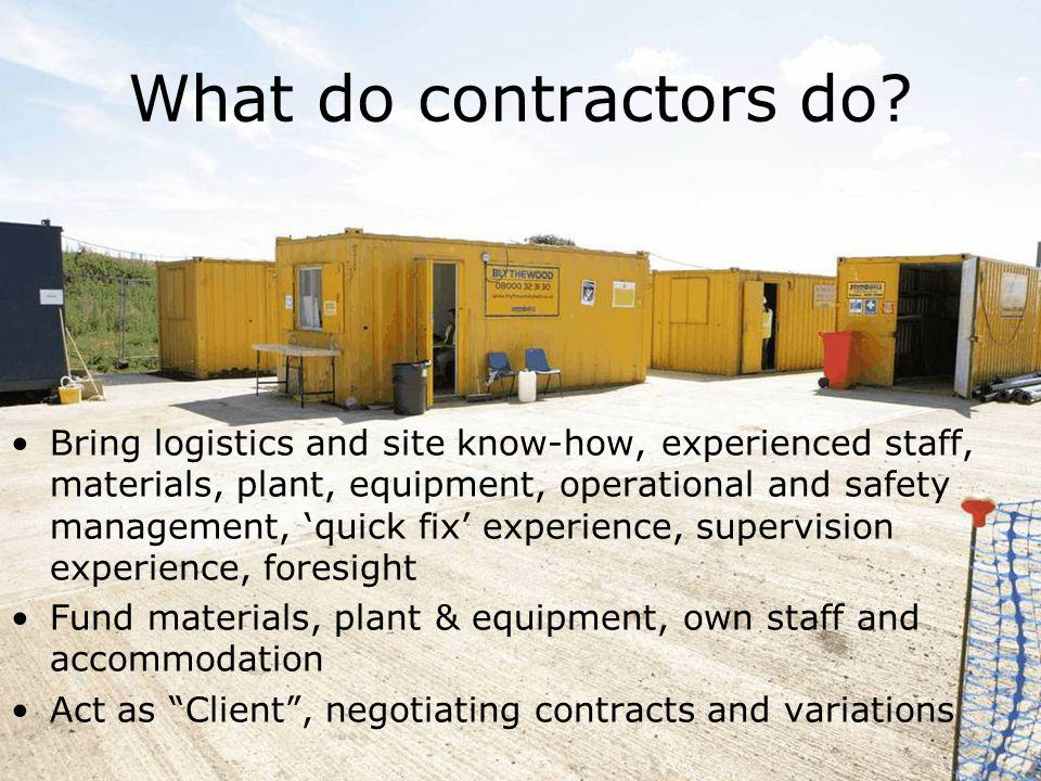 What do contractors do