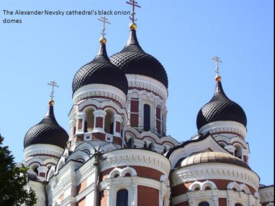 The Alexander Nevsky cathedral s black onion domes