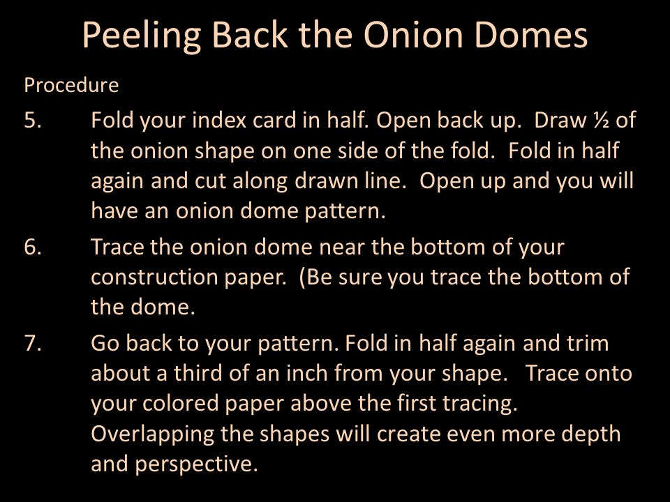 Peeling Back the Onion Domes