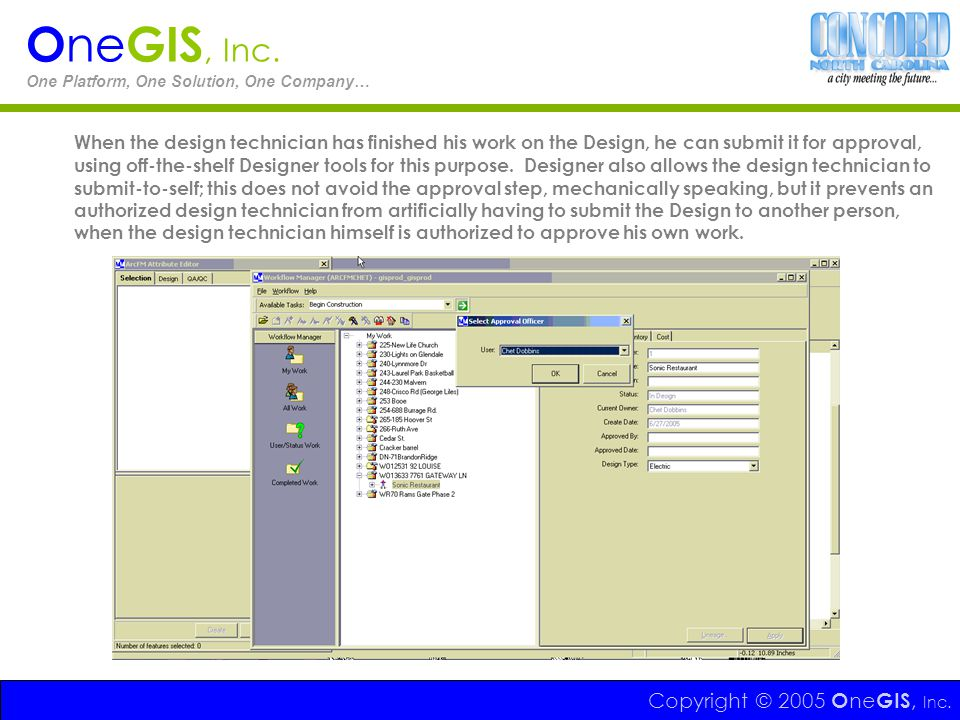 OneGIS, Inc. One Platform, One Solution, One Company…