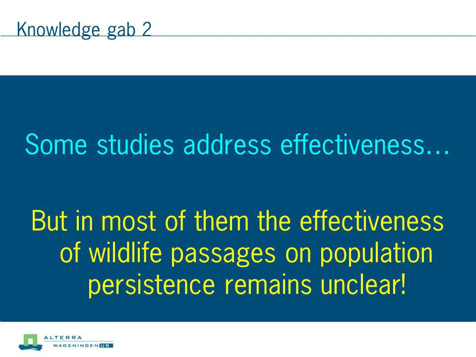 Some studies address effectiveness…
