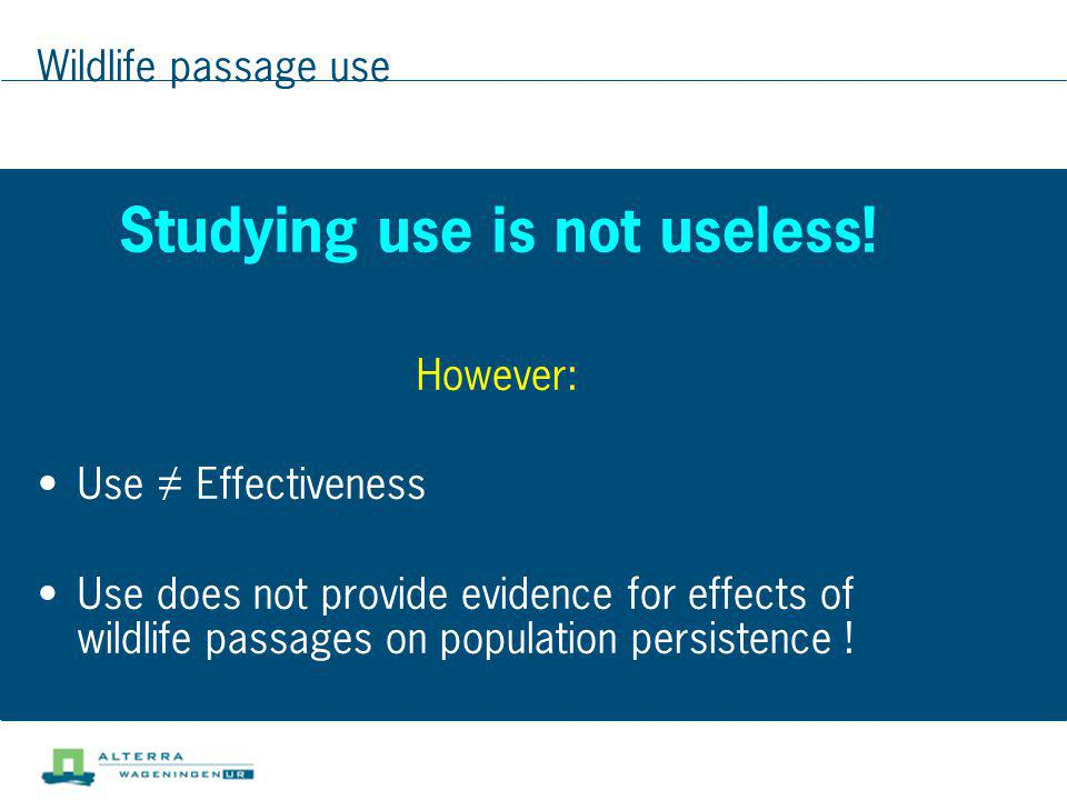 Studying use is not useless!