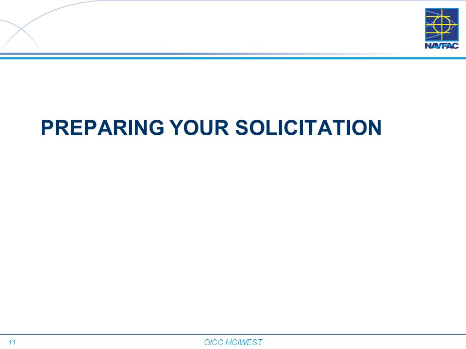 PREPARING YOUR SOLICITATION