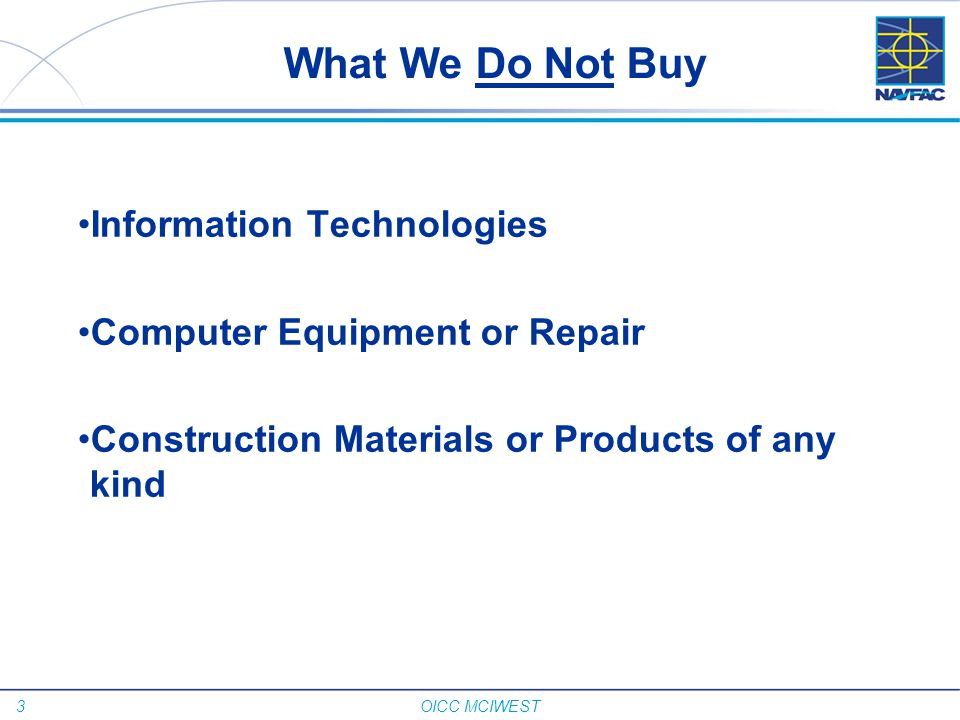 What We Do Not Buy Information Technologies