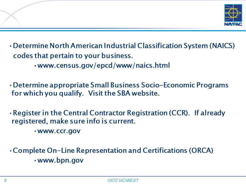 Determine North American Industrial Classification System (NAICS)
