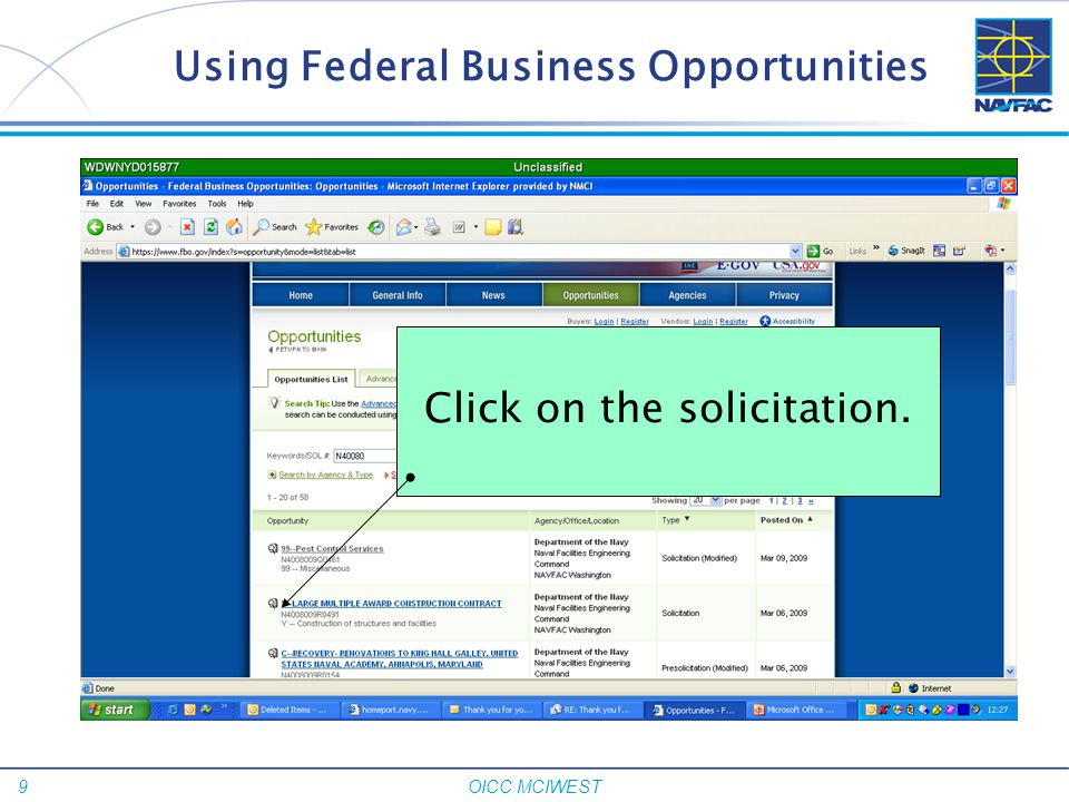 Using Federal Business Opportunities