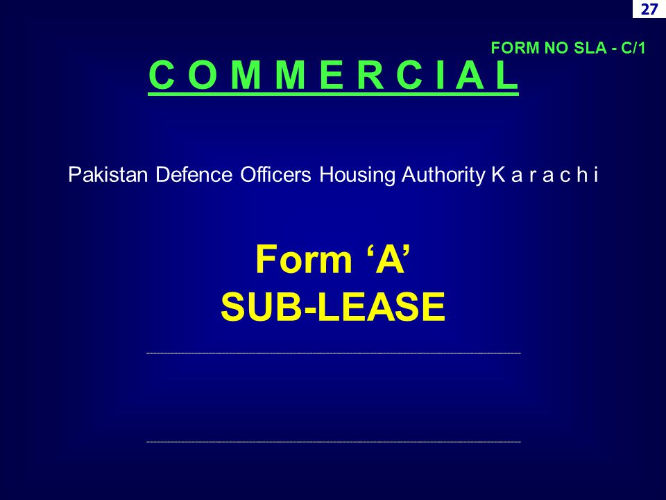 Pakistan Defence Officers Housing Authority K a r a c h i
