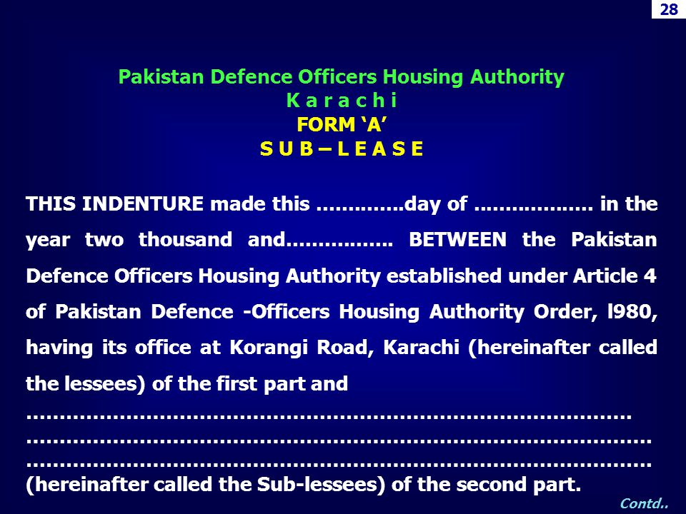 Pakistan Defence Officers Housing Authority