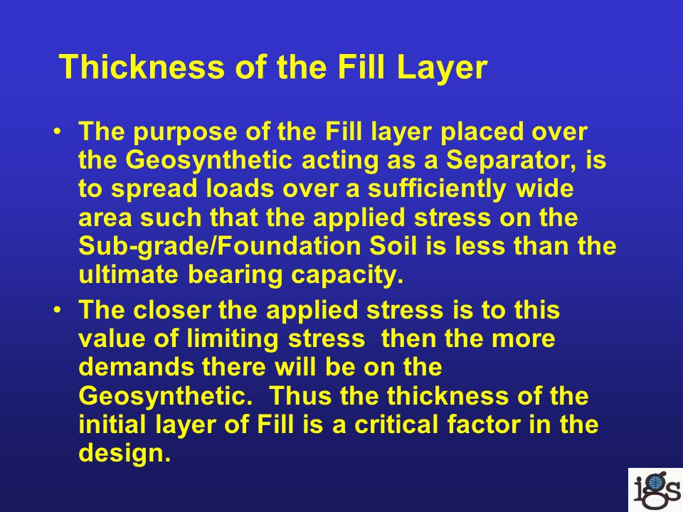 Thickness of the Fill Layer