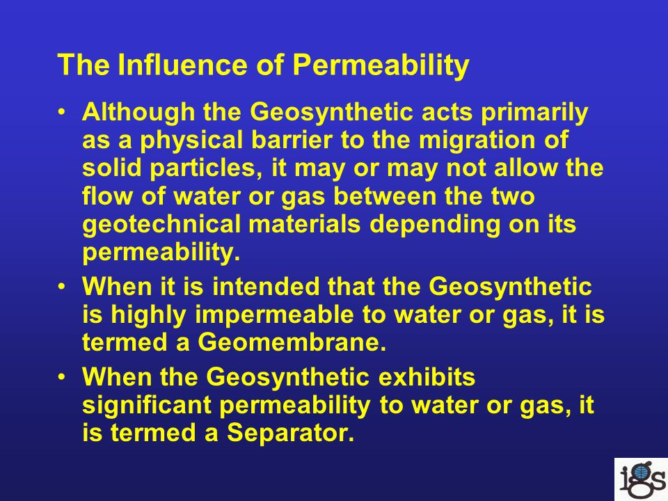 The Influence of Permeability