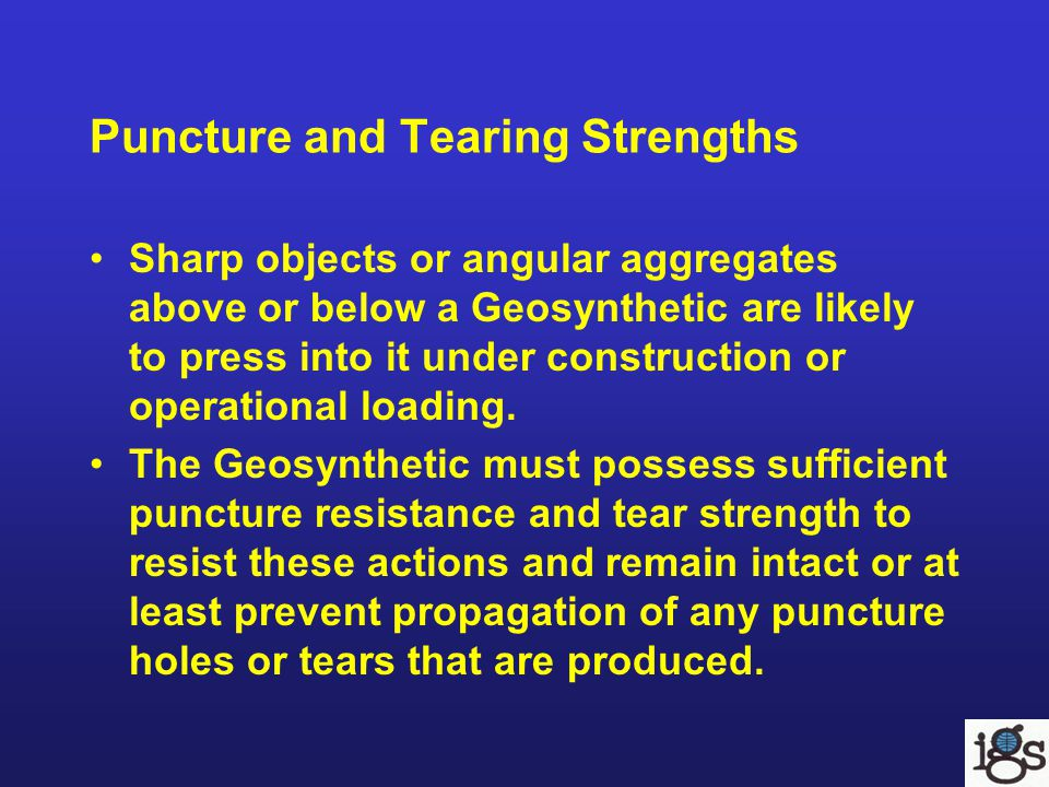 Puncture and Tearing Strengths