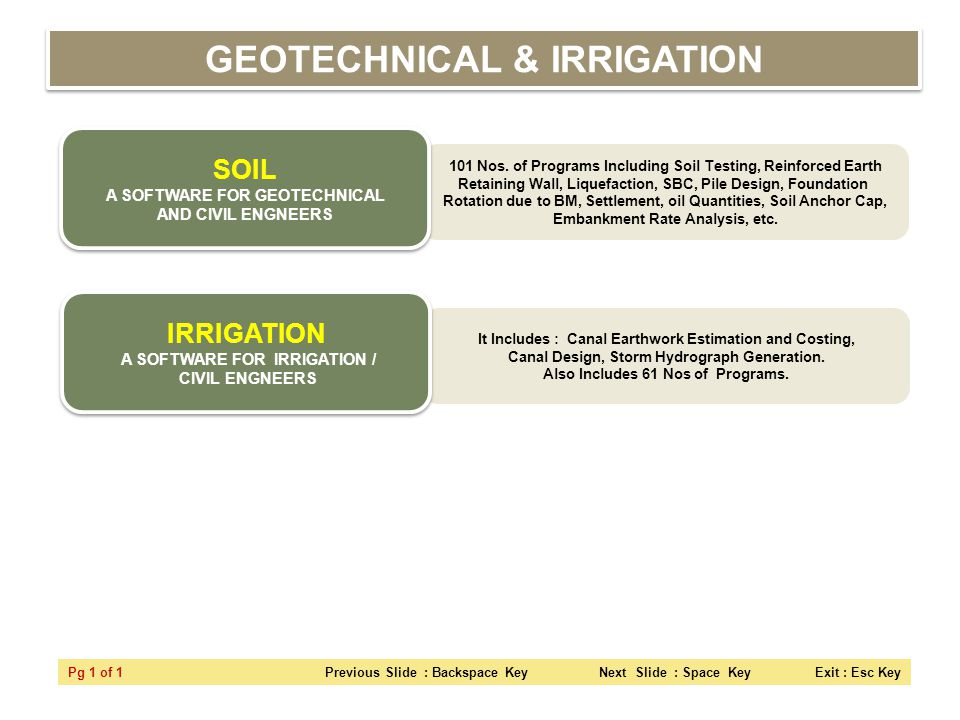 GEOTECHNICAL & IRRIGATION