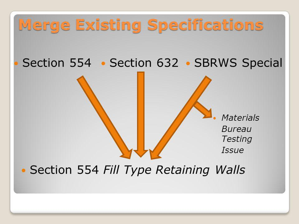 Merge Existing Specifications