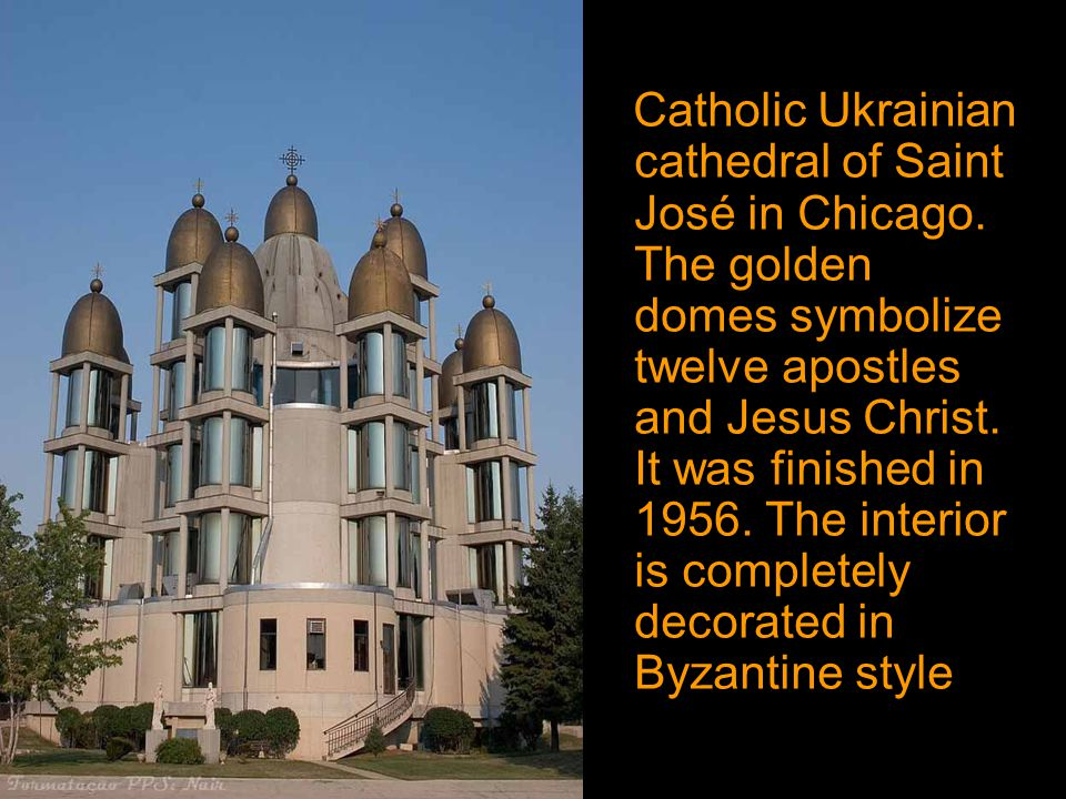 Catholic Ukrainian cathedral of Saint José in Chicago