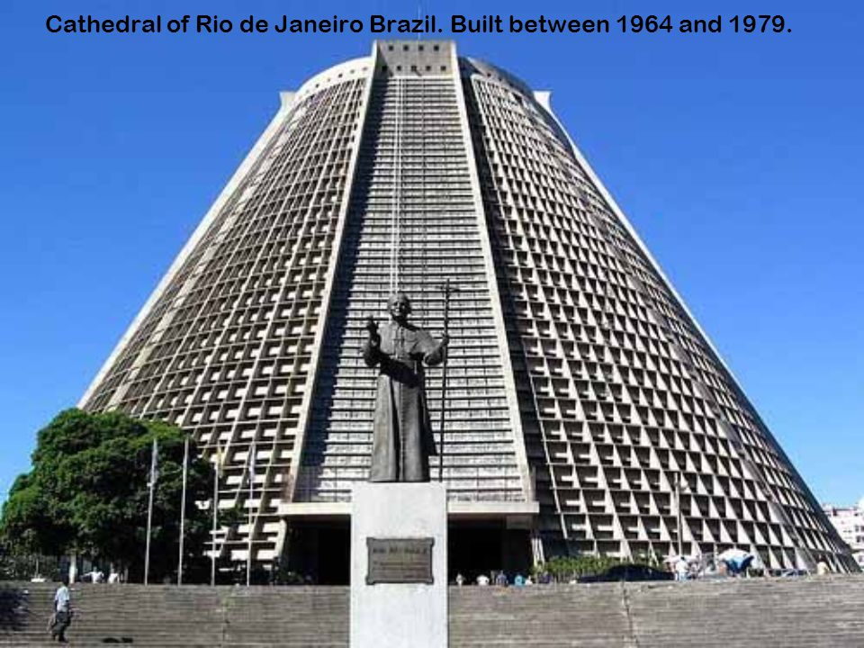 Cathedral of Rio de Janeiro Brazil. Built between 1964 and 1979.