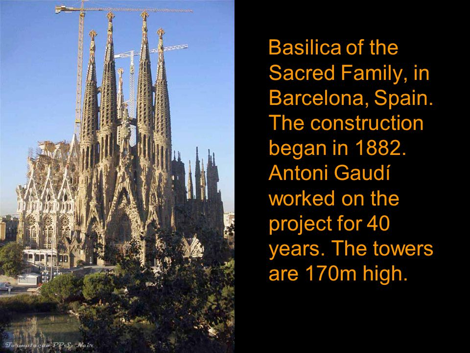 Basilica of the Sacred Family, in Barcelona, Spain