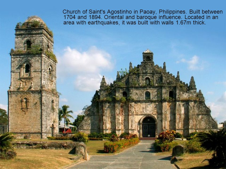 Church of Saint s Agostinho in Paoay, Philippines