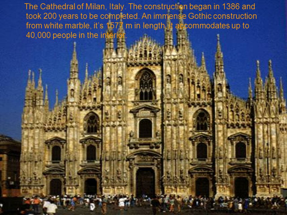 The Cathedral of Milan, Italy