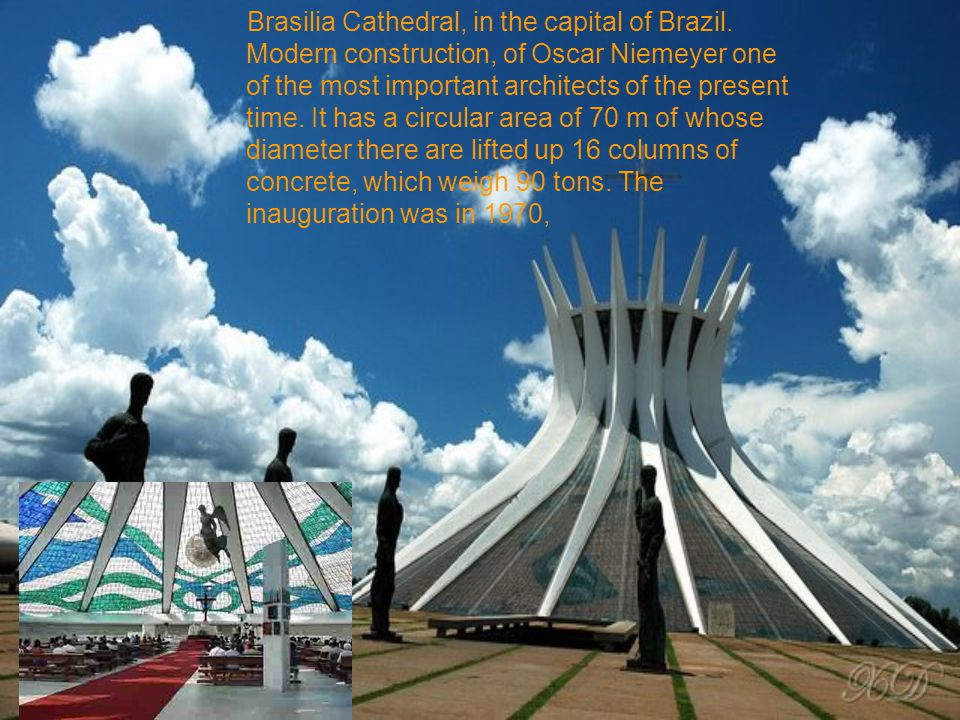 Brasilia Cathedral, in the capital of Brazil