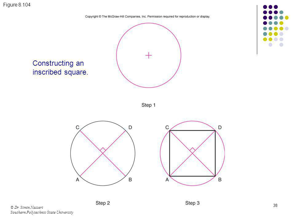 Constructing an inscribed square.