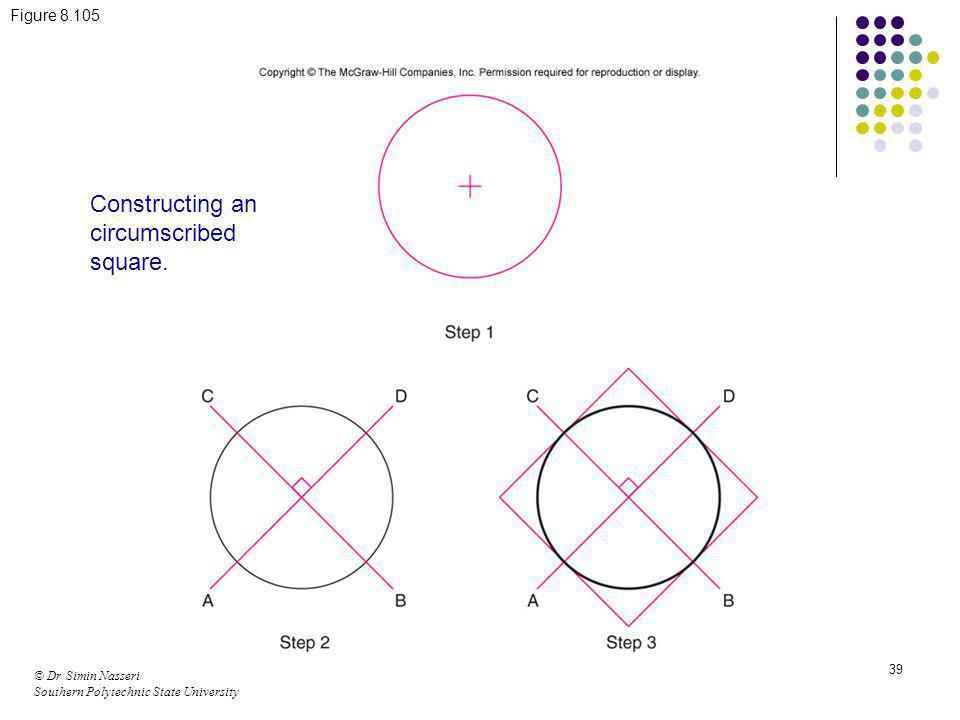 Constructing an circumscribed square.