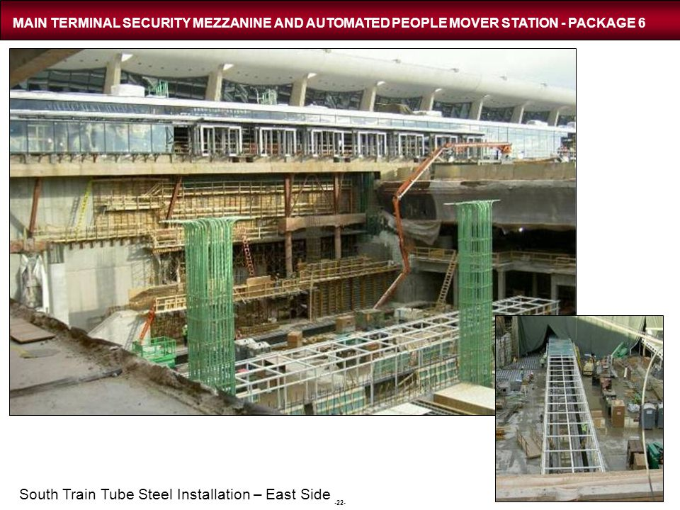 MAIN TERMINAL SECURITY MEZZANINE AND AUTOMATED PEOPLE MOVER STATION - PACKAGE 6