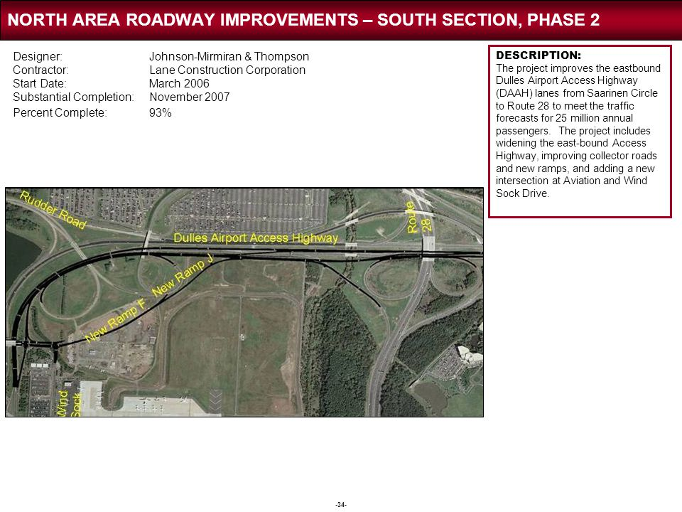 NORTH AREA ROADWAY IMPROVEMENTS – SOUTH SECTION, PHASE 2