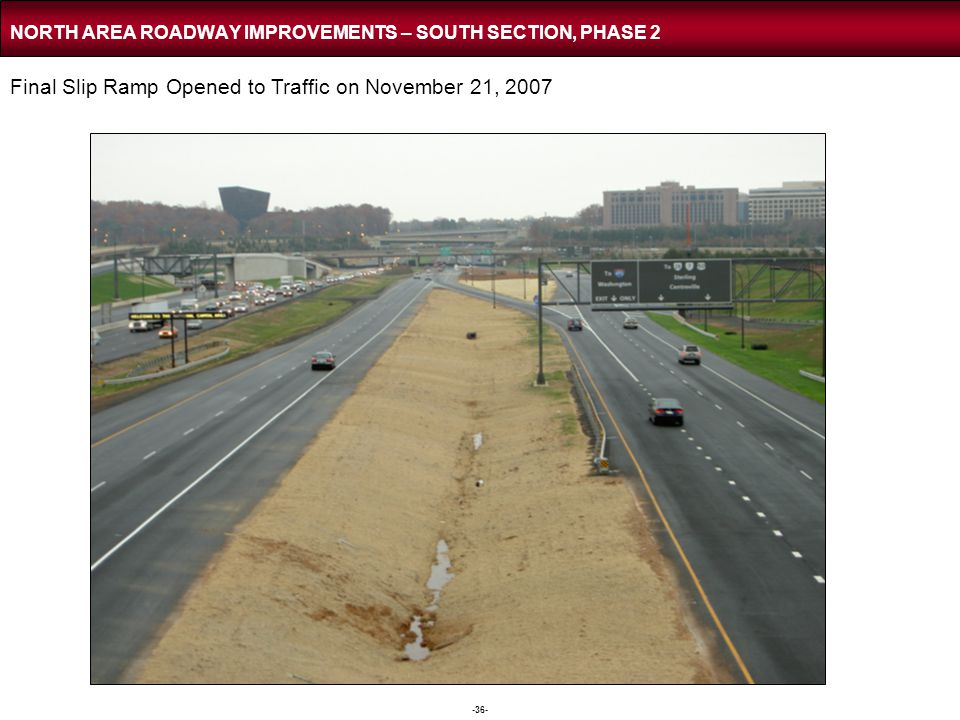 NORTH AREA ROADWAY IMPROVEMENTS – NORTH SECTION PHASE 3