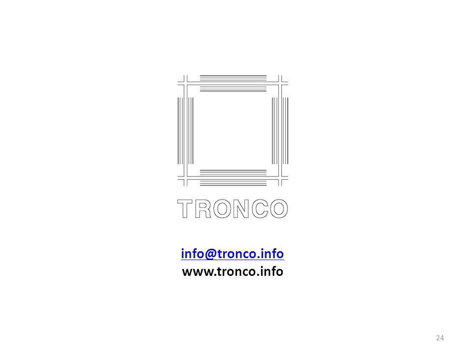 info@tronco.info www.tronco.info