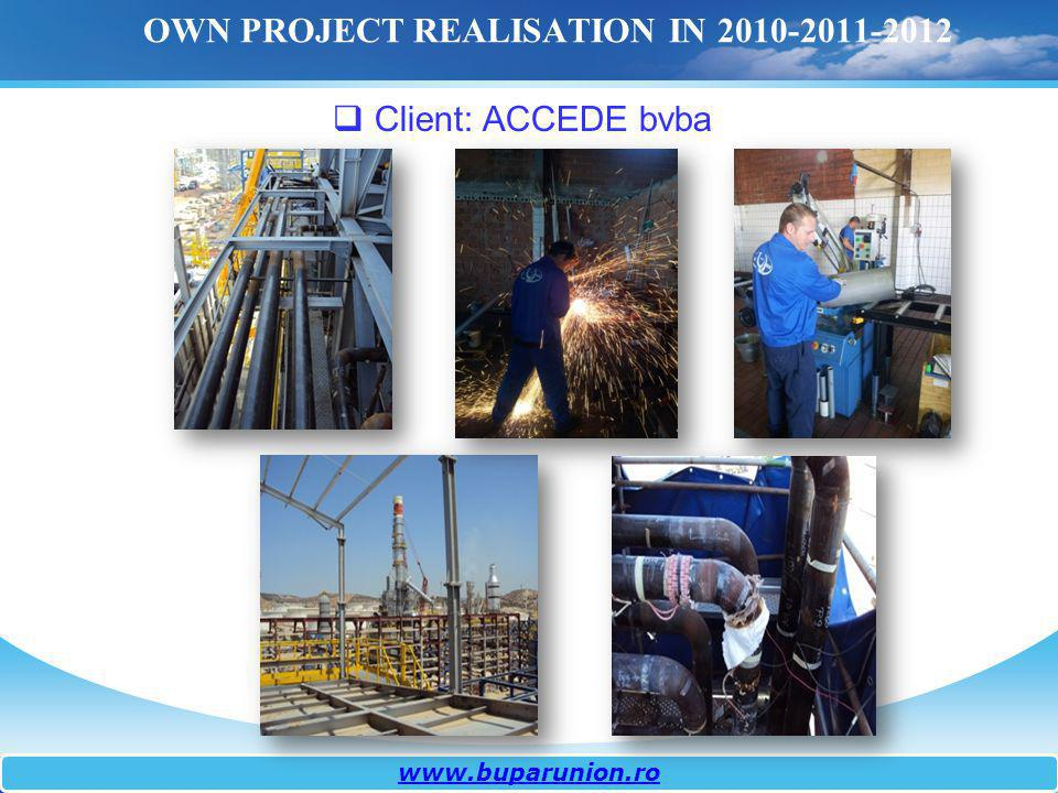 OWN PROJECT REALISATION IN 2010-2011-2012